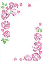 igsticker ポスター ウォールステッカー シール式ステッカー 飾り 420×594㎜ A2 写真 フォト 壁 インテリア おしゃれ 剥がせる wall sticker poster 015522 バラ 花 ピンク かわいい