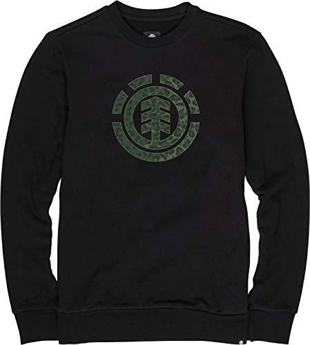 Element Leopard Icon Fill CR Sweatshirt, Hombre, Flint Black, L