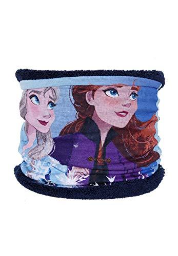 Frozen - Die Eiskönigin Anna und ELSA Schlauch-Schal Loop Snood Bandana, Farbe:Dunkel-Blau