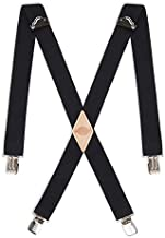 Dickies Men's 1-1/4 Solid Straight Clip Suspender, Black, One Size