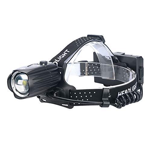 Linterna Frontal Led, Faro Recargable por USB, Faro Delantero con Zoom Impermeable De 3 Modos con Paquete De 3 Baterías Luz para Casco, Faro Superbrillante para Acampar Y Correr