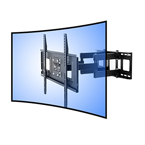 "FLEXIMOUNTS CR1 Curved Panel TV Wall Mount Bracket for 32""-65"" UHD OLED 4k Samsung LG Vizio etc TVs"