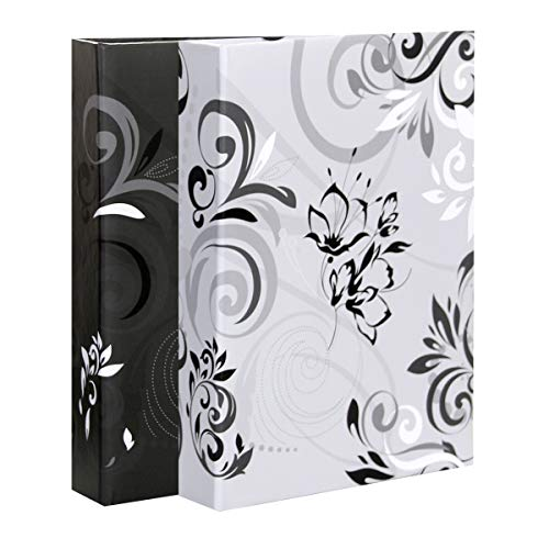 LC DISTRIBUTION - Lote de 2 álbumes de Fotos con Fundas, 10 x 15 cm, Color Negro y Blanco