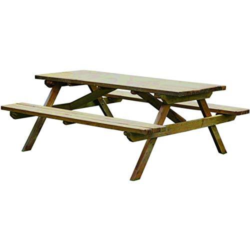 Forest Style Table Pique-Nique PICOLO – Traitée Autoclave Classe 3 – (150×152×75cm)