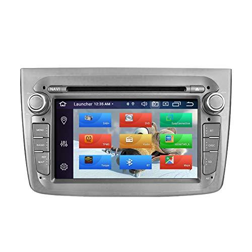 ZLTOOPAI Lettore multimediale per auto per Alfa Romeo Mito dal 2008 in poi Android 10 Octa Core 4G RAM 64G ROM IPS Single Din Car Radio Audio Stereo Navigazione GPS