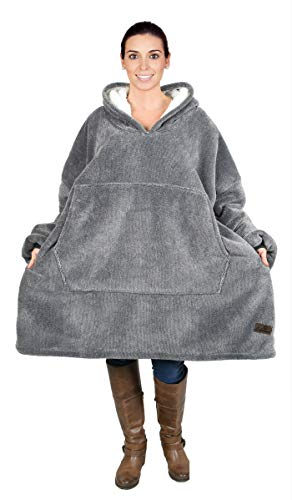 Kato Tirrinia Hoodie Blanket, Oversized Sherpa Sweatshirt, Super Soft Warm Wearable...