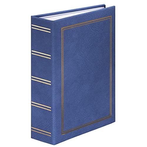 Hama Einsteckalbum London 9x13 cm (Fotoalbum für 200 Bilder im Format 9 x 13 cm, Fotobuch zum Einstecken) blau