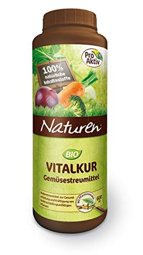 Naturen Bio Vitalkur Gemüsestreumittel Pflanzenstärkungsmittel zur Gesunderhaltung und Kräftigung schädlingsanfälliger Gemüsepflanzen, 600 g Streudose