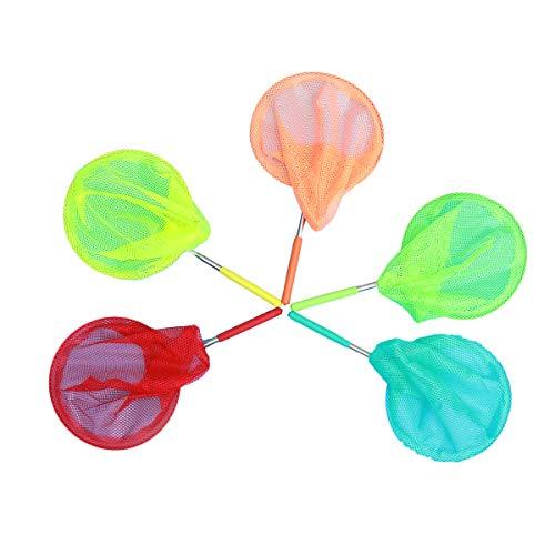 Vosarea 5pcs Schmetterling Netz Kinder Fischernetz Ausziehbar Kescher für Outdoor Entdecker Garten Kinder Spielzeug