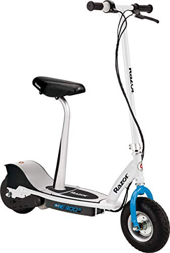 Razor E300S Seated Electric Scooter - 9' Air-filled Tires, Removable Seat, Up to 15 mph and 10 Miles Range