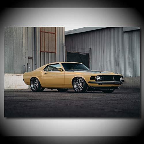 Pintura al óleo póster Mustang RDJ Boss 302 SpeedKore Modular Wall Art Canvas Pinturas Imágenes Impresiones Póster Decoración del hogar para sala de estar Sin marco 50x70cm