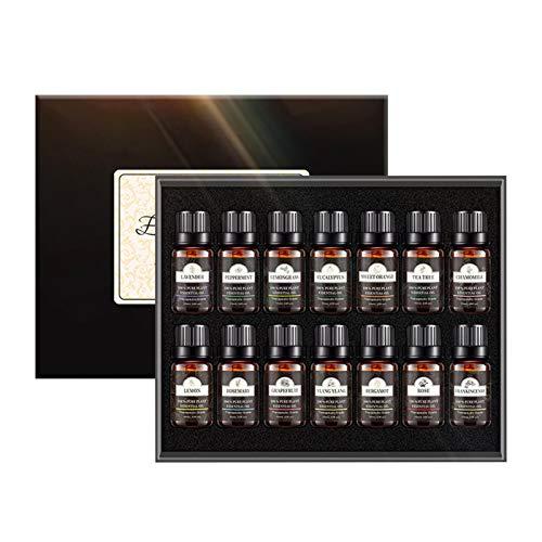 Essential Oils By Shenrongtong 100 Pure Therapeutic Grade Oils Kit- Top Aromatherapy Oils Gift Set-12, 10ML - Eucalyptus, Lavender, Lemon Grass, Orange, Peppermint, Tea Tree Etc.