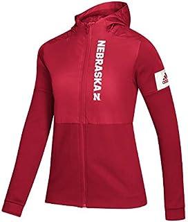 adidas Women's Women's Game Mode Full Zip Jacket NCAA Nebraska Cornhuskers Women's Game Mode Full Zip Jacket, delete Red, ...
