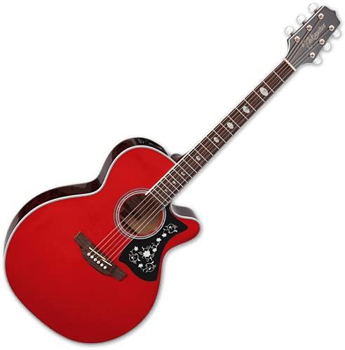 Takamine Guitarra acústica eléctrica de 6 cuerdas, diestros, rojo vino (GN75CE WR)