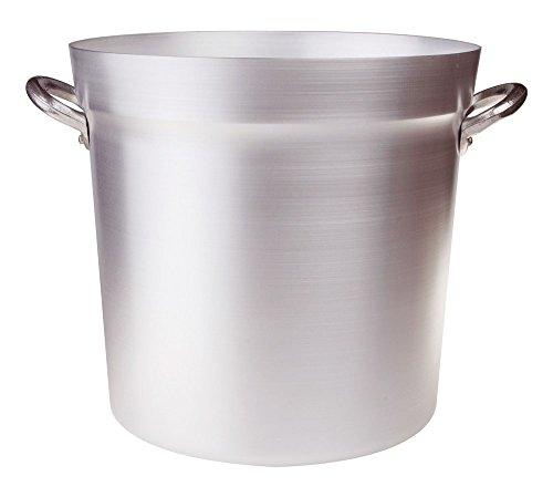 31 litros Pentole Agnelli FAMA85BS34 Olla de Tomate de Aluminio con 2 Asas, Tipo Norte, diámetro 34 cm, 31 litros, Plata