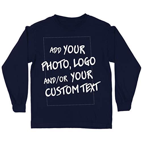 lepni.me Camiseta para Niño/Niña Regalo Personalizado, Agregar Logotipo de la Compañía, Diseño Propio o Foto (7-8 Years Azul Multicolor)