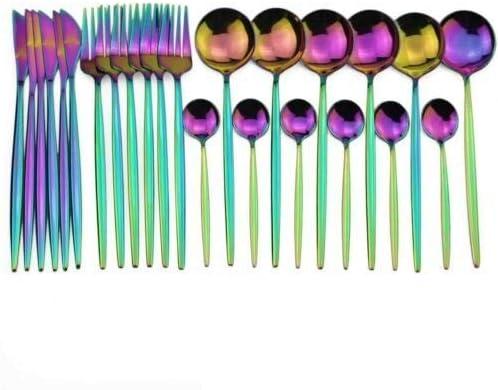 Silverware Flatware Cutlery Set Utensils Industry supreme No. 1 Colorful Dinnerwar