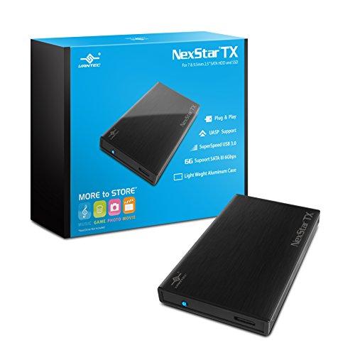Vantec NexStar TX 2.5' USB 3.0 Hard Drive Enclosure (NST-228S3-BK) Black
