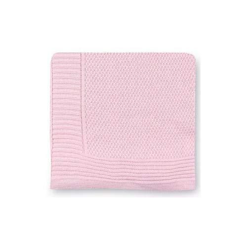 Pirulos 28013420 - Toquilla tricot texturas, 110 x 140 cm, color rosa