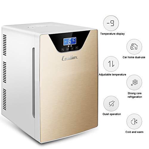 LHY Getränkekühler - Minibar, 20 L, Zweikerniges Kühl- Und Heizsystem, -9-65°C, Nur 30 Db, Umweltfreundlich [Energieklasse A+]
