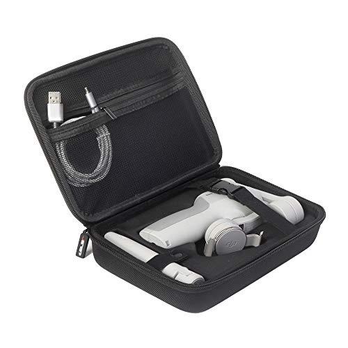 JSVER Custodia Rigid per DJI Osmo Mobile 3, Case Protettiva Borsa di Trasporto Compatibile con Osmo Mobile 3 e Accessori (Nero)