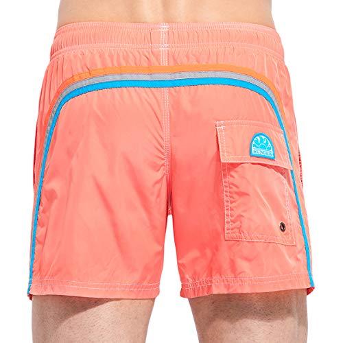 SUNDEK Herren Badehose mit elastischer Taille, 35,6 cm - Pink - XX-Large