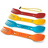 UCO Utility Spork 3-in-1 Combo Spoon-Fork-Knife Camping Utensil, 4-Pack