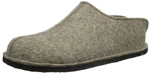 Haflinger Flair Smily, Pantoffeln, Unisex-Erwachsene, Filz aus reiner Wolle, Beige (550 Torf), 37 EU