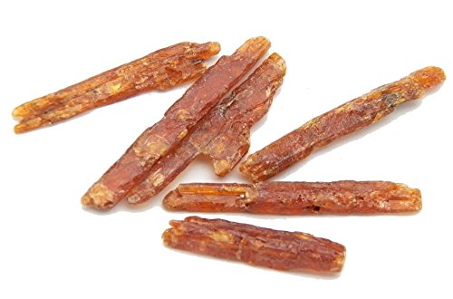 Fundamental Rockhound™ Products: 5 Grams Orange Kyanite Rough Crystal Stone Aa Quality Crystal From Tanzania (5 Grams Small)