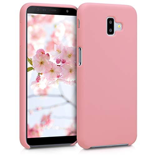 kwmobile Funda Compatible con Samsung Galaxy J6+ / J6 Plus DUOS - Carcasa de TPU para móvil - Cover Trasero en Rosa Pastel Mate
