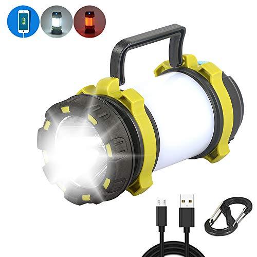 LED Campinglampe Aufladbar,LangRay Camping Laterne IPX4 Wasserdicht Campingleuchte Taschenlampe Dimmbare, Handscheinwerfer 270lm, 3 Lichtmodi 2 Helligkeitsstufen Handlampe mit 3000mAh Akku
