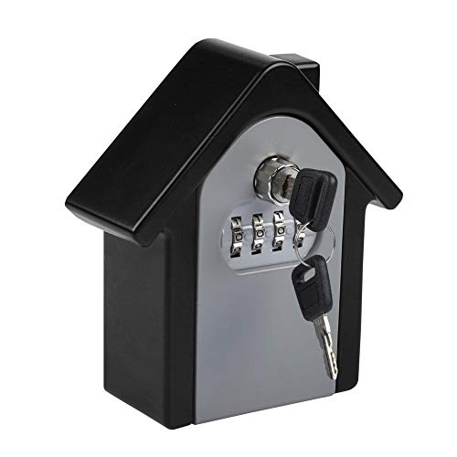 Zetiling Safe Lock Box, Sleutel Opslag Wandslot Doos, 4 Digit Wachtwoord Wandbevestiging Code Keys Houder Opslag Lock Box Case voor Indoor Outdoor