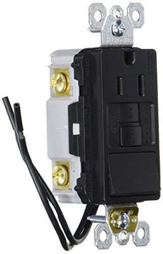 Legrand radiant Self-Test GFCI Rocker Decorator Switch, Safe for Kids, Tamper Resistant Outlets, 15 Amps, Black, 1597SWTTRBKCCD4