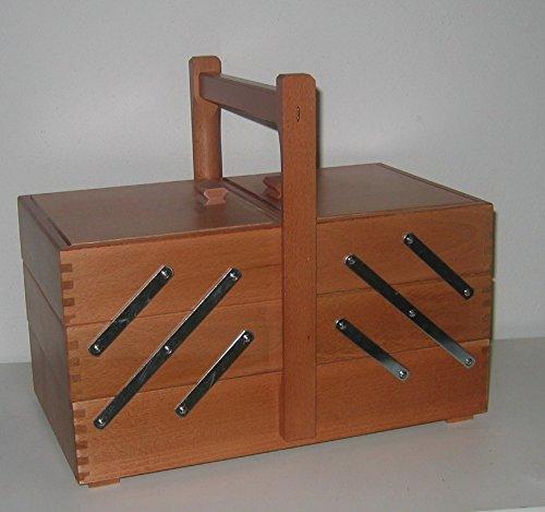 D.I.D Cestino Cucito in Legno Color Noce 72-3 - Porta Lavoro di Cucito a 3 Piani Art 72-3