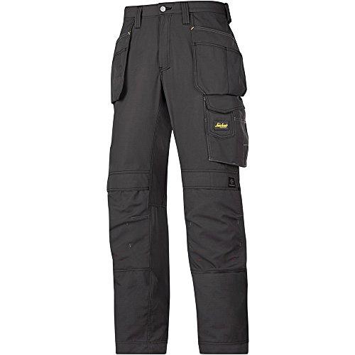 Snickers - Workwear, Pantaloni da lavoro in tessuto rip-stop con HP, nero, 32130404046