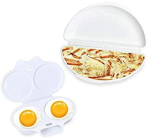 SKYUXUAN Easy Egg Breakfast Set Microwave Omelet Pan and Egg Poacher - BPA Free Egg Maker Easy to Use and Non-Stick Breakfast Egg Cookware