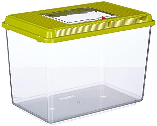Ferplast Aquarium en Plastique Geo Maxi Bac 21 L Conteneur pour Petits Animaux, Aquarium, Terrarium, Insectes, Bac à Tortues, Plastique Robuste, Grilles de Ventilation, 41,3 X 26 X H 29,8 cm Vert
