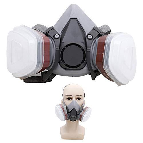 Carrfan Mezza Faccia Pittura Spruzzo Respiratore Maschera Antigas