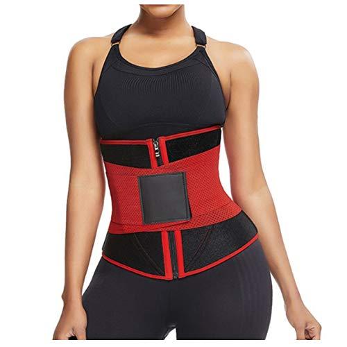 Workout Waist Trainer for Women Sweat Waist Trimmer Slimming Body Shaper Tummy Control Girdle Sauna...