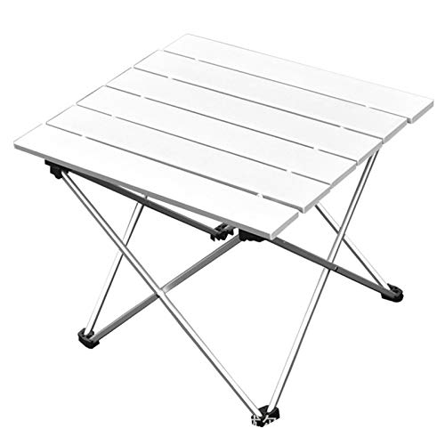 Portable Camping Table, Small Ultralight Folding Table with Aluminum Table Top and Carry Bag, Easy to Carry, Perfect for Outdoor, Picnic, BBQ, Cooking, Festival, Easy to Clean,S