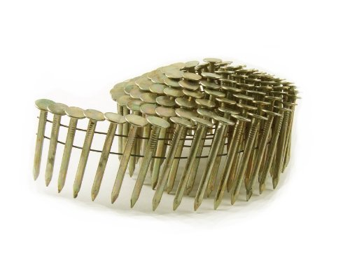 B&C Eagle CR-112 Round Head 1-1/2-Inch x .120 Smooth Shank Electrogalvanized Coil Roofing Nails (7,200 per box)