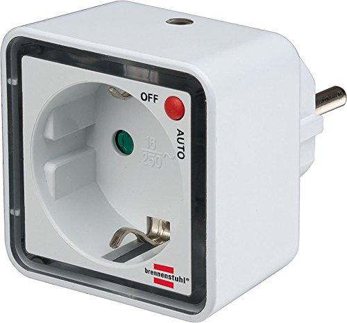 2er Set Brennenstuhl LED-Nachtlicht NL 02 ED mit Dämmerungssensor und Steckdose 2 LED 1lm Schaltfunktion Auto/aus, 1173270