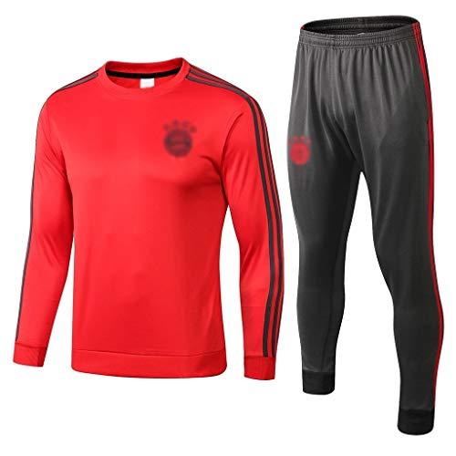 Big25cm Go! Fußballplatz!e Super European Football!Männer Fußball Langarm Fußball-Rot Training Trikots Fußball-Training Uniformen bas0367 (Color : Red, Size : XL)