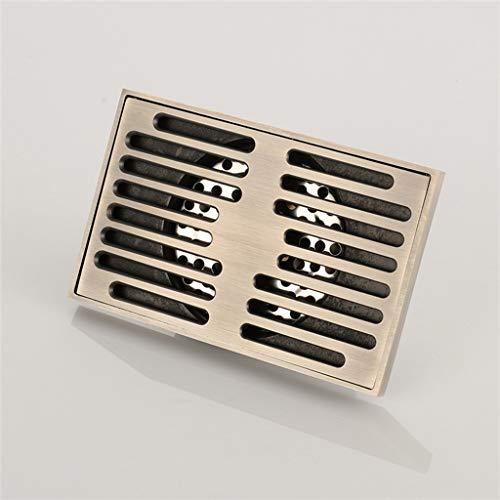 ZTHC vloersifon van roestvrij staal, multifunctioneel, mobiel, groot, vierkant, bescherming, afvoer, verstelbaar, voor keuken en badkamer
