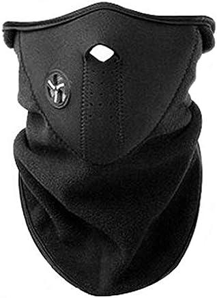 AKORD - Máscara con cuello de neopreno para deportes de invierno, color negro, talla única