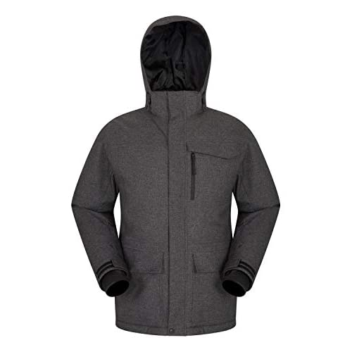Mountain Warehouse Comet Mens Ski Jacket – Waterproof, Taped Seams, Breathable, Detachable Snowskirt, Lift Pass Pocket…