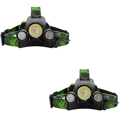 ASDSDF LED Headlamp, 4 Lighting Modes, Head Torch, Waterproof 4400mAh Power Bank, Headlight With Adjustable Lamp Head Angle for Outdoor Activities