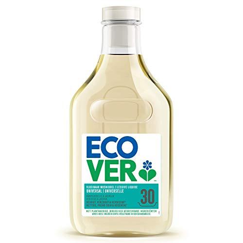 Ecover - Detergente líquido universal con perfume de madera de roble y jazmín | origen natural para una ropa limpia | suave para la piel | 1,5 l – 30 lavados