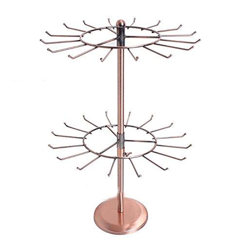 etruke Support Bracelet Collier Support rotatif Organiseur Bijoux à 2 étages