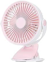 Ventilateur à Pince à Piles Summer 2000 Mah, Mini 360 ° Portable Alimenté Ventilateurs de Bureau Silencieux Charge Usb Pou...